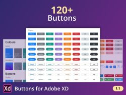 120+ Buttons for Adobe XD