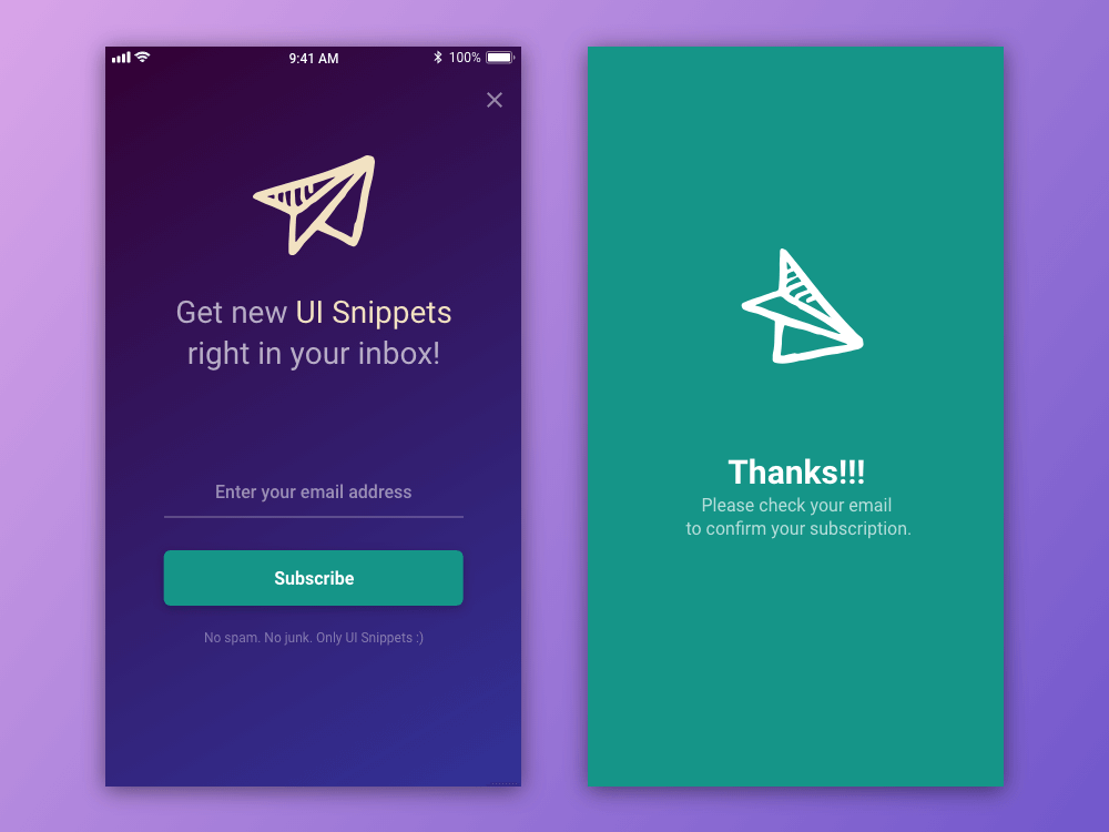 Subscribe - Daily UI #026