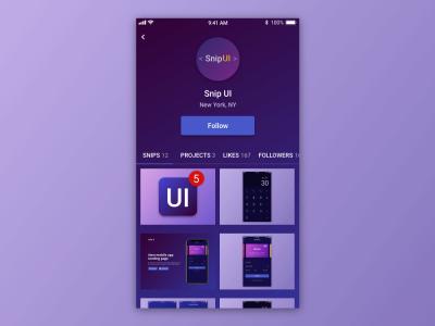 User Profile – Adobe XD