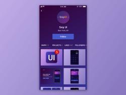 User Profile - Adobe XD snippet