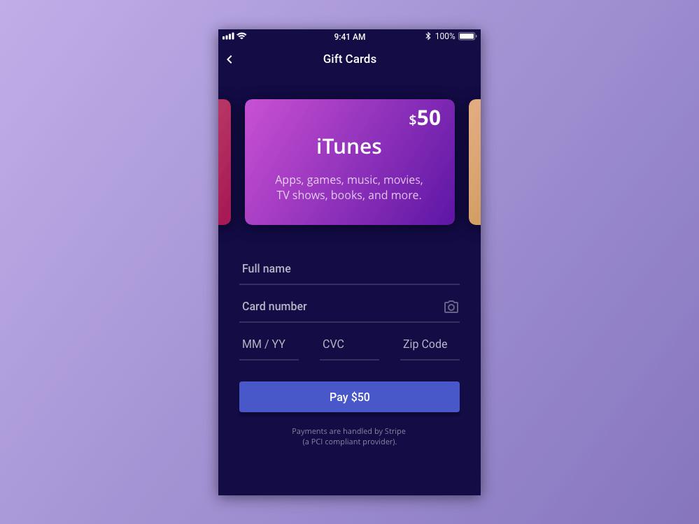 Credit card checkout - Adobe XD · Snip UI