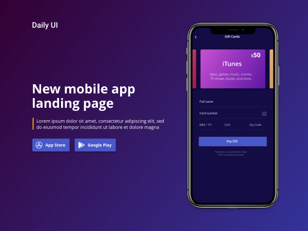 Landing page - Daily UI 003